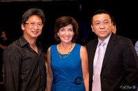 Sunny Yung, Kathy Hochul (Lt. Governor Candidate), Jason Kong (Co-Founder and CEO, Miss NY Chinese Beauty Pageant)