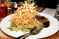 CharGrilled Aged Beef. Szechuan Fries and Watercress Salad / Buddakan