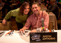 Host Diane Henderiks and Judge Chef Antiorio